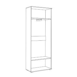 Шкаф для одежды Куба 13.136 дуб сонома - белый премиум