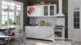 Кухня Айс-крим МДФ 2,0м белый глянец