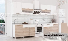 Кухня Айсбери 2,4м белый - дуб сонома