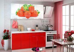 Кухня с фотопечатью Клубника 1,6м