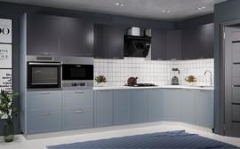 Модульная кухня Квадро 3,0м лунный свет - железо