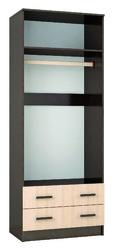 Шкаф комбинированный с зеркалом 0,8 Лагуна венге - дуб молочный