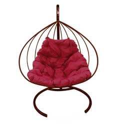 Подвесное кресло-кокон Для Двоих без ротанга коричневое