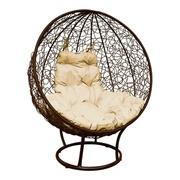 Кресло Круглое стоячее с ротангом коричневое