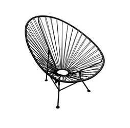 Кресло Ракушка черное