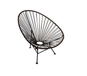 Кресло Ракушка коричневое