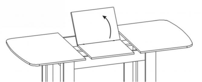 Стол раздвижной Вектор-2 капучино