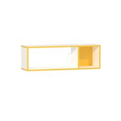 Полка Альфа 09.129 солнечный - белый премиум