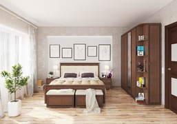 Спальный гарнитур Ливорно орех донской комплект-2