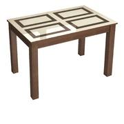 Стол обеденный Норман 1200х800 орех шоколадный - рисунок плитка