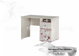 Письменный стол ПС-04 Малибу ясень белый - айскрим