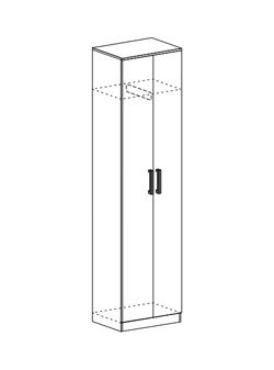 Шкаф со скалкой Машенька ШК-203 венге - белфорт
