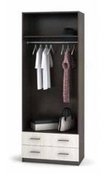 Шкаф Дуэт 2-х дверный с 2-мя ящиками шимо темный - шимо светлый