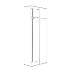 Шкаф для одежды Куба 13.137 дуб сонома - белый премиум