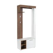 Шкаф комбинированный 10.03 Лайт белый премиум - орех селект каминный