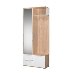 Шкаф комбинированный Куба 10.14 дуб сонома - белый премиум