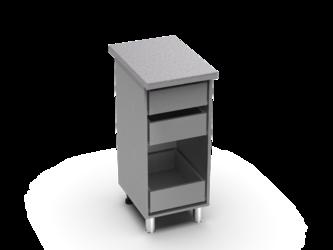 Шкаф нижний с 3мя ящиками Контемп ШН3Я 400