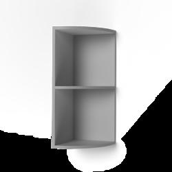 Шкаф верхний радиусный Крафт ШВР темный бетон
