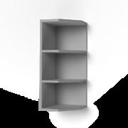 Шкаф верхний торцевой открытый ШВТО Контемп дуб сонома