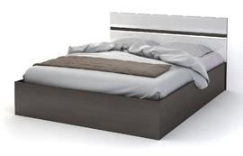 Кровать 1,6 Вегас венге - белый глянец