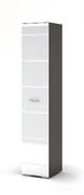 Пенал Вегас венге - белый глянец