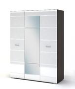 Шкаф 3х ств Вегас венге - белый глянец