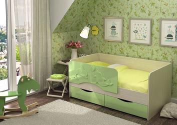 Кровать Алиса КР-811 1400 зеленый металлик