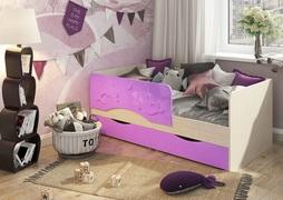 Кровать Алиса КР-811 1400 сирень металлик