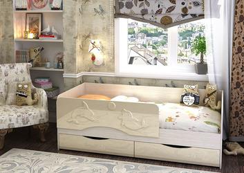Кровать Алиса КР-811 1400 ваниль глянец