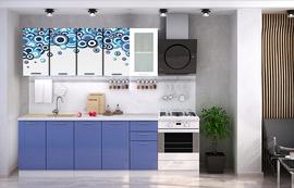 Кухня с фотопечатью Круги 2,0м