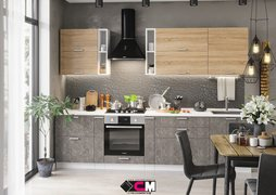 Модульная кухня серии Бетон МДФ бетон темный
