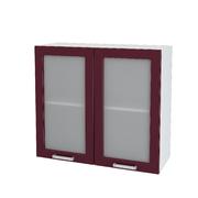Шкаф верхний со стеклом Ксения ШВС 800 МДФ Ваниль