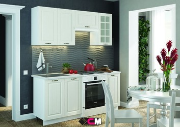 Кухня Мария МДФ дуб белый комплект 1,8 м