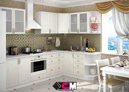 Кухня угловая Юлия МДФ сандал белый комплект 2,8х1,7м