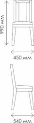 Стул Классика-5 белый - патина серебро