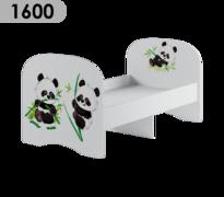 Кровать детская 1,6 Сладкий Соня белый - панда