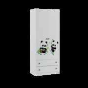 Шкаф 2-х створчатый Сладкий Соня белый - панда