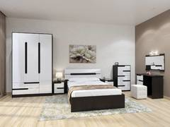 Спальный гарнитур Гавана акрил белый комплект-2