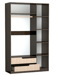 Шкаф 3-х створчатый Гавана венге - акрил белый