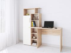 Компьютерный стол Квартет-7 белый - дуб сонома