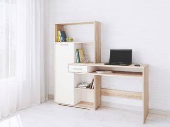 Компьютерный стол Квартет-8 белый - дуб сонома