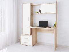 Компьютерный стол Квартет-9 белый - дуб сонома